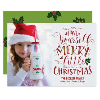クリスマスカード-メリーで小さいクリスマス カード