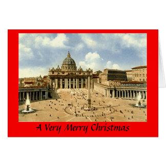 クリスマスカード-ローマ、バチカン グリーティングカード