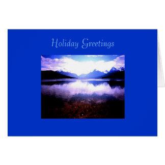 クリスマスカード、湖のマクドナルドの氷河NP カード