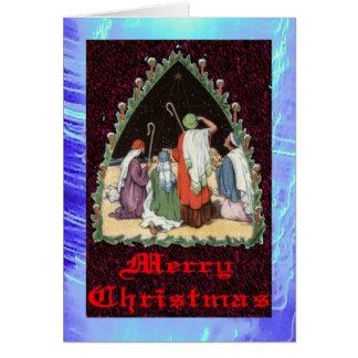クリスマスカード- 9の3 -羊飼い カード
