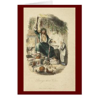 クリスマスキャロルのクリスマスカード グリーティングカード