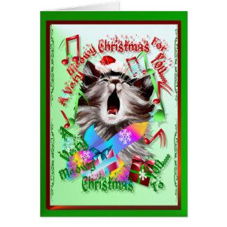 クリスマスキャロルの子猫 カード