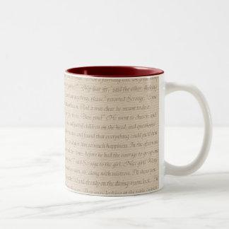 クリスマスキャロルの引用文 ツートーンマグカップ