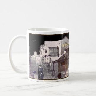 クリスマスキャロルの文字 コーヒーマグカップ