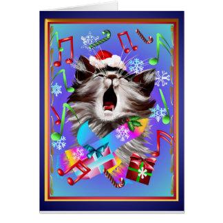 クリスマスキャロルの歌う子猫 カード