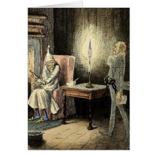 クリスマスキャロルのMarleyの幽霊カード グリーティングカード