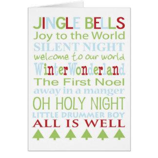 クリスマスキャロルカード グリーティングカード