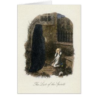 クリスマスキャロル-クリスマスの幽霊けれども来るため カード