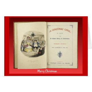 クリスマスキャロル、初版からのFrontispiece グリーティングカード