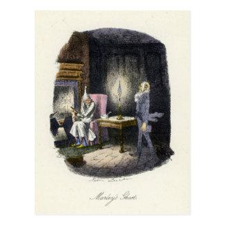 クリスマスキャロル- Marleyの幽霊 ポストカード