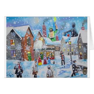クリスマスキャロルScroogeおよび3人の幽霊 グリーティングカード