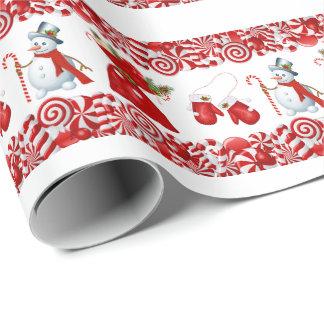 クリスマスキャンデーおよび糖菓の包装紙 ラッピングペーパー
