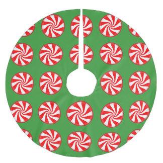 クリスマスキャンデーのクリスマスツリーのスカート ブラッシュドポリエステルツリースカート