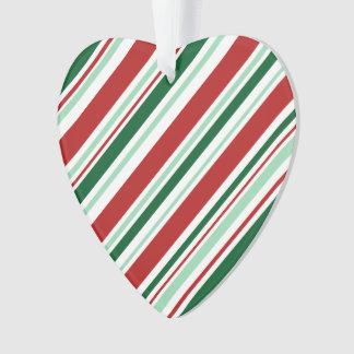 クリスマスキャンデーは縞で飾ります: 赤くか真新しい緑か深緑色 オーナメント