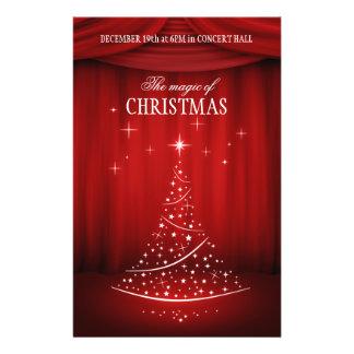 クリスマスコンサートのフライヤ チラシ