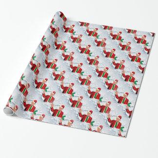 クリスマスサンタドナルド・トランプ ラッピングペーパー