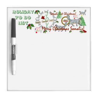 クリスマスソマリ族猫のホワイトボード ホワイトボード