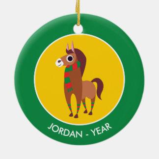 クリスマスゾーラ馬 セラミックオーナメント