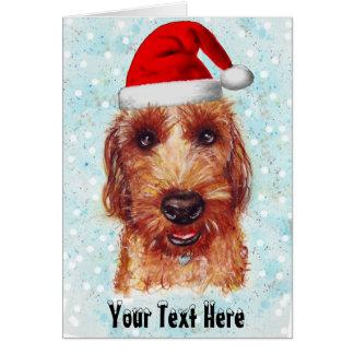 クリスマスチェスターJackapooの水彩画 カード