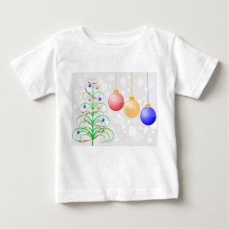 クリスマスツリーおよびカラフルのつまらないもの ベビーTシャツ