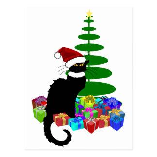 クリスマスツリーおよびギフトとNoir雑談 ポストカード
