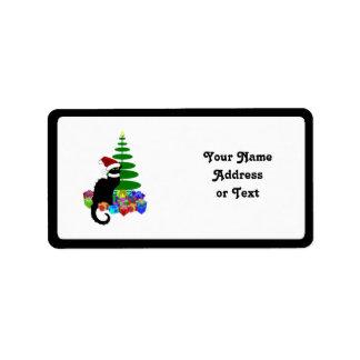クリスマスツリーおよびギフトとNoir雑談 ラベル