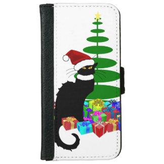 クリスマスツリーおよびギフトとNoir雑談 iPhone 6/6s ウォレットケース