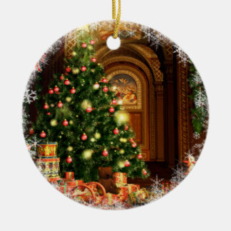 クリスマスツリーおよびギフト セラミックオーナメント