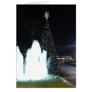 クリスマスツリーおよび噴水カード カード