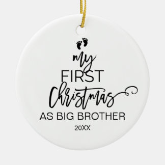 クリスマスツリーお兄さんとして私の初めてのクリスマス セラミックオーナメント
