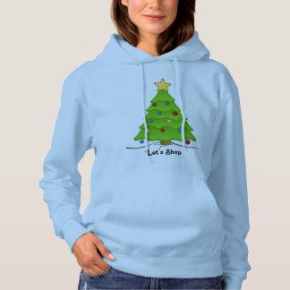 クリスマスツリーが付いている休日の買物をしようスエットシャツ パーカ