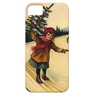 クリスマスツリーとのスキー iPhone SE/5/5s ケース