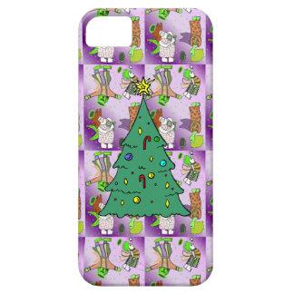クリスマスツリーとのピンクのかわいい天使 iPhone SE/5/5s ケース