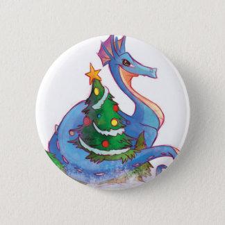 クリスマスツリーのあたりのドラゴン 5.7CM 丸型バッジ
