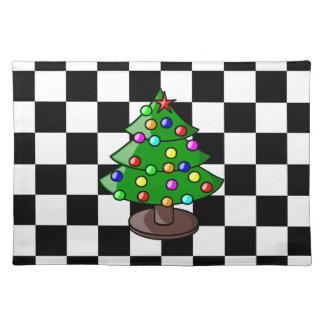 クリスマスツリーのアメリカ人のMoJoのランチョンマット ランチョンマット