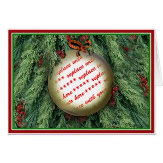 クリスマスツリーのオーナメントの写真フレーム カード