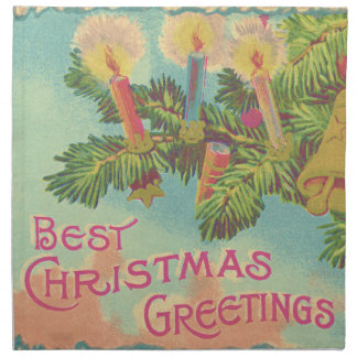 クリスマスツリーのオーナメントの鐘の蝋燭 ナプキンクロス