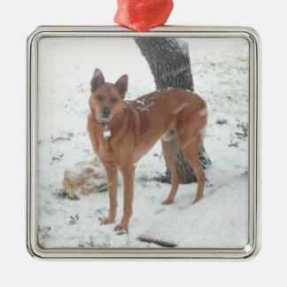 クリスマスツリーのオーナメントはペットか家族写真を加えます メタルオーナメント