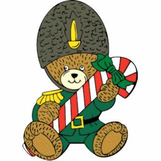 クリスマスツリーのオーナメント-戦わない兵隊くま 写真彫刻オーナメント