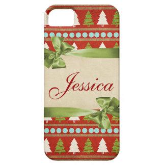 クリスマスツリーのカスタマイズ可能なiphone 5カバー iPhone SE/5/5s ケース