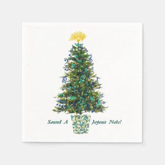 クリスマスツリーのカスタムの文字を飾る音楽シンボルや象徴 スタンダードカクテルナプキン