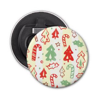 クリスマスツリーのキャンディ・ケーンのヒイラギパターン 栓抜き