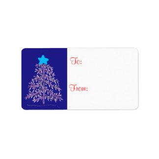 クリスマスツリーのギフトのラベル ラベル