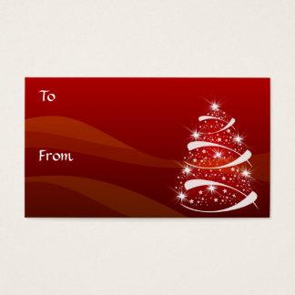 クリスマスツリーのギフトは*TBA 11-3-08年に付けます 名刺