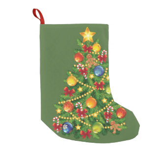 クリスマスツリーのクリスマスのストッキング スモールクリスマスストッキング