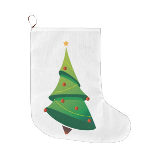 クリスマスツリーのクリスマスのストッキング ラージクリスマスストッキング
