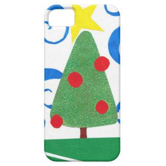 クリスマスツリーのコラージュのiPhone 5の場合 iPhone SE/5/5s ケース