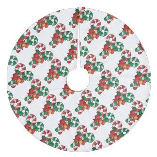 クリスマスツリーのスカートかキャンディ・ケーン フリース ツリースカート