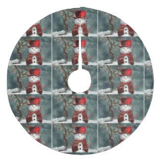 クリスマスツリーのスカートか雪だるま フリース ツリースカート