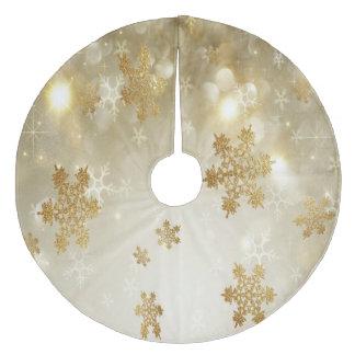 クリスマスツリーのスカートか雪片 フリース ツリースカート